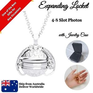 Back to Back Square Silver 4-8 Photo Locket